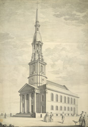 St Leonard's New Church, Shoreditch, 1740